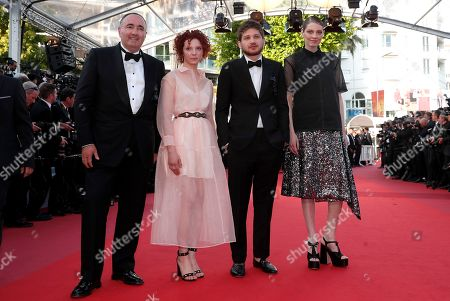 Stock Image of Russian actress Victoria Miroshnichenko, Russian director Kantemir Balagov, Russian actress Vasilisa Perelygina and Russian producer Alexandr Rodnyansky arrive for the screening of 'Rocketman' during the 72nd annual Cannes Film Festival, in Cannes, France, 16 May 2019. The movie is presented out of competition at the festival which runs from 14 to 25 May.