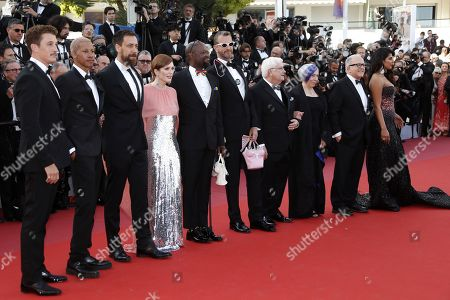 Miles Teller, Keiynan Lonsdale, Dan Krauss, Julianne Moore, Steve Williams, Guy Vandenberg, Cliff Morrison, Alison Moed, Hank Plante arrive for the screening of '5B' during the 72nd annual Cannes Film Festival, in Cannes, France, 16 May 2019. The movie is presented out of competition at the festival which runs from 14 to 25 May.