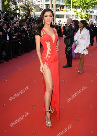 Praya Lundberg poses for photographers upon arrival at the premiere of the film 'Rocketman' at the 72nd international film festival, Cannes, southern France