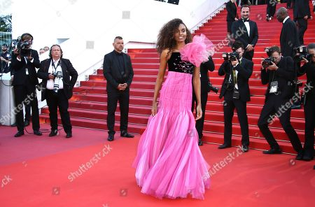 Gelila Bekele poses for photographers upon arrival at the premiere of the film 'Rocketman' at the 72nd international film festival, Cannes, southern France