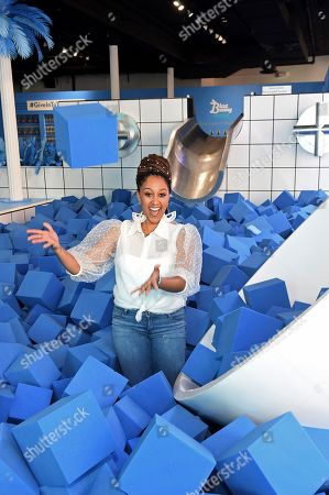 Fun-loving actress Tamera Mowry-Housley joins Blue Bunny ice cream in New York City, to help America #GiveInToTheBunny