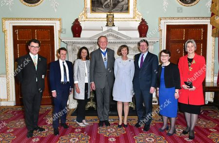 Vincent Keaveny, Andy Street, Carolyn Fairbairn, Peter Estlin, Greg Clark, Catherine McGuinness and Liz Green