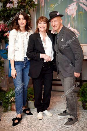Gala Gordon, Jane Birkin and Stephen Jones OBE