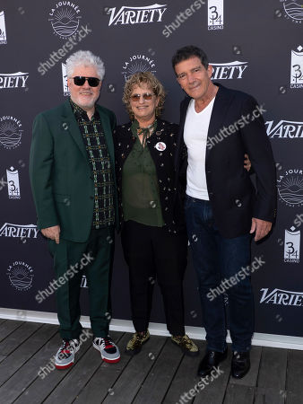 Pedro Almodovar, Claudia Eller and Asier Etxeandia attend Variety Photocall at the 72nd annual Cannes Film Festival, in Cannes, France, 16 May 2019. The festival runs from 14 to 25 May.