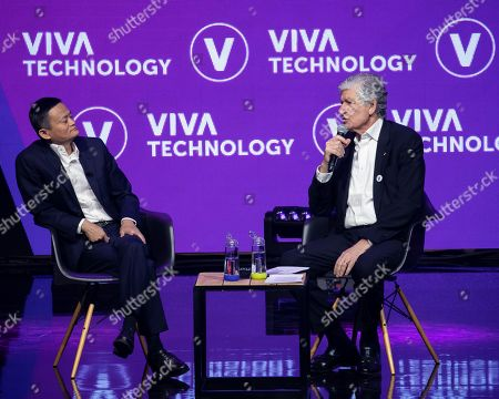 Stock Picture of Maurice Levy, Chairman of Publicis and Jack Ma, CEO, Alibaba Group.