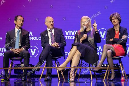 Son Young, Samsung Corporate President and Chief Strategy Officer, Philippe Wahl, Chairman and CEO La Poste Group, Ginni Rometty, IBM Chairman President and CEO and Isabelle Kocher, CEO, Engie Group.