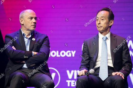Stephane Richard, Chairman and CEO Orange Group and Young, Son Samsung Corporate President and Chief Strategy Officer.