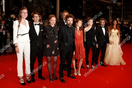 Cyril Dion (C) arrives for the screening of 'Sorry We Missed You' during the 72nd annual Cannes Film Festival, in Cannes, France, 16 May 2019. The movie is presented in the Official Competition of the festival which runs from 14 to 25 May.