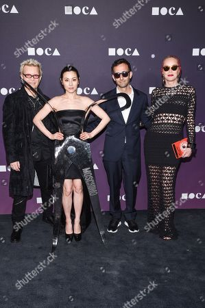 Stock Picture of Billy Idol, China Chow and Sharon Stone