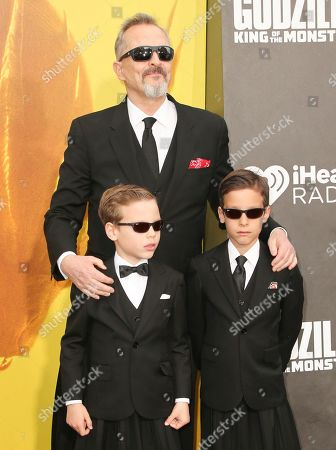 Miguel Bose and his sons Diego and Tadeo