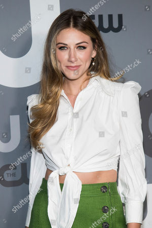 Perry Mattfeld attends the CW 2019 Network Upfront at New York City Center, in New York