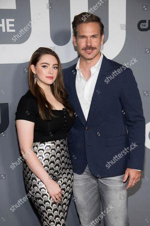 Danielle Rose Russell, Matthew Davis. Danielle Rose Russell and Matthew Davis attend the CW 2019 Network Upfront at New York City Center, in New York