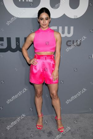 Jeanine Mason attends the CW 2019 Network Upfront at New York City Center, in New York