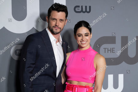 Nathan Parsons, Jeanine Mason. Nathan Parsons and Jeanine Mason attend the CW 2019 Network Upfront at New York City Center, in New York