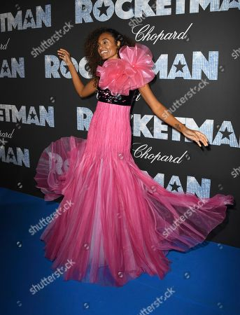 Stock Photo of Gelila Bekele poses for photographers upon arrival at the party for the film Rocketman at the 72nd international film festival, Cannes, southern France