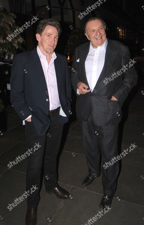 Rob Brydon and Barry Humphries at Scotts Restaurant