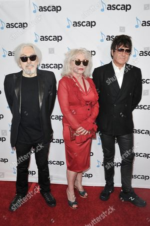 Chris Stein, Debbie Harry, Clem Burke. Chris Stein, from left, Debbie Harry and Clem Burke attend the 36th Annual ASCAP Pop Music Awards at the Beverly Hilton, in Beverly Hills,Calif