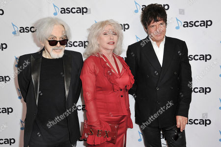 Chris Stein, Debbie Harry, Clem Burke. Chris Stein, from left, Debbie Harry and Clem Burke attend the 36th Annual ASCAP Pop Music Awards at the Beverly Hilton, in Beverly Hills, Calif