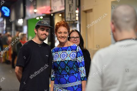 One Nation leader Pauline Hanson is seen posing for a photograph during the final day of campaigning at The Central Market, Adelaide, South Australia, Australia, 17 May 2019. The Australian federal election will be held on 18 May 2019 to elect members of parliament.