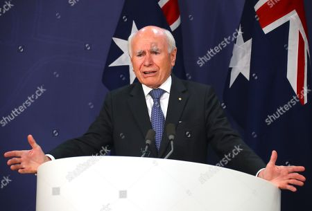 Former Australian Prime Minister John Howard speaks during a media conference in Sydney, New South Wales, Australia, 17 May 2019. Howard paid tribute to former Australian prime minister Bob Hawke, who passed away on 16 May 2019 aged 89.