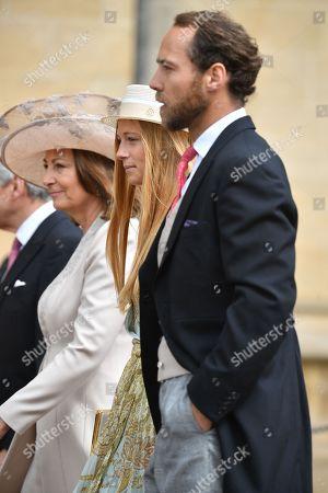 Carole Middleton, Alizee Thevenet and James Middleton