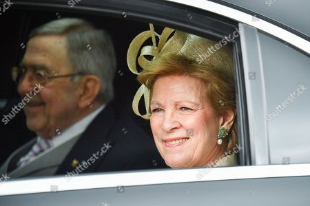 Stock Image of Queen Anne-Marie and King Constantine of Greece