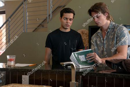 Jonny Rios as Ravi Jerome and Nicholas Galitzine as Elliott Lefevre