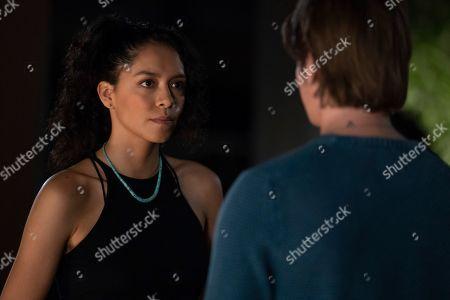 Sivan Alyra Rose as Sasha Yazzie and Nicholas Galitzine as Elliott Lefevre