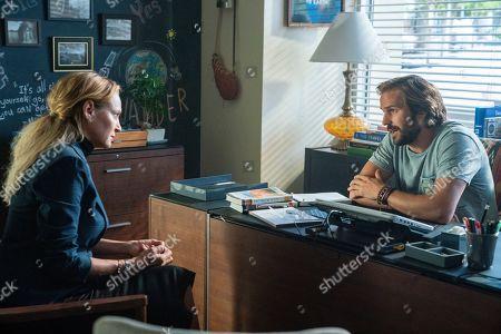 Uma Thurman as Nancy Lefevre and Michael Stahl-David as Coach Jones