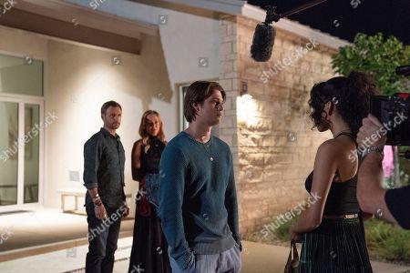 Tony Goldwyn as Ben Lefevre, Uma Thurman as Nancy Lefevre, Nicholas Galitzine as Elliott Lefevre and Sivan Alyra Rose as Sasha Yazzie