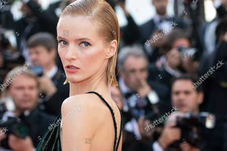 Daria Strokous poses for photographers upon arrival at the premiere of the film 'Rocketman' at the 72nd international film festival, Cannes, southern France