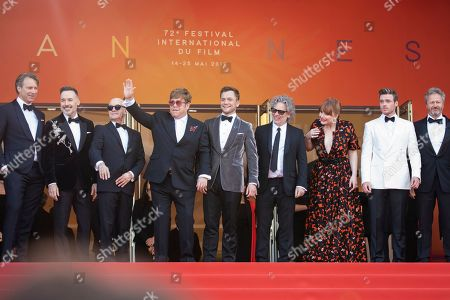 Giles Martin, David Furnish, Bernie Taupin, Sir Elton John, Taron Egerton, Director Dexter Fletcher, Bryce Dallas Howard, Richard Madden, Adam Bohling, Kit Connor. Giles Martin, David Furnish, Bernie Taupin, Sir Elton John, Taron Egerton, Director Dexter Fletcher, Bryce Dallas Howard, Richard Madden, Adam Bohling and Kit Connor pose for photographers upon arrival at the premiere of the film 'Rocketman' at the 72nd international film festival, Cannes, southern France
