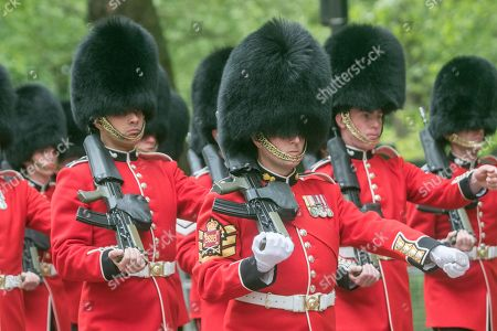 Trooping Colour rehearsal London Stock Photos (Exclusive
