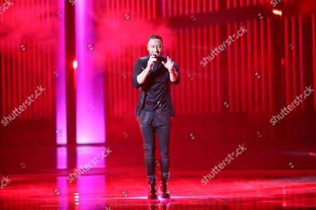 Winner of the 2015 Eurovision Song Contest Mans Zelmerlow from Sweden performs during rehearsals for the Grand Final of the 64th annual Eurovision Song Contest (ESC) at the Expo Tel Aviv, in Tel Aviv, Israel, 17 May 2019. The Grand Final is held on 18 May.