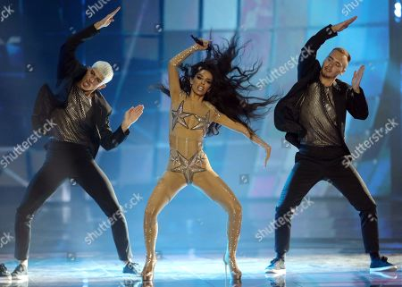 Eleni Foureira who presented Cyprus at the 2018 Eurovision Song Contest performs during rehearsals for the Grand Final of the 64th annual Eurovision Song Contest (ESC) at the Expo Tel Aviv, in Tel Aviv, Israel, 17 May 2019. The Grand Final is held on 18 May.