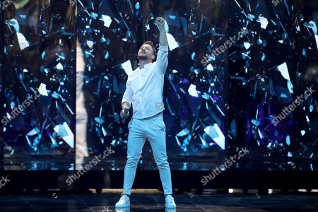 Sergey Lazarev of Russia performs during rehearsals for the Grand Final of the 64th annual Eurovision Song Contest (ESC) at the Expo Tel Aviv, in Tel Aviv, Israel, 17 May 2019. The Grand Final is held on 18 May.