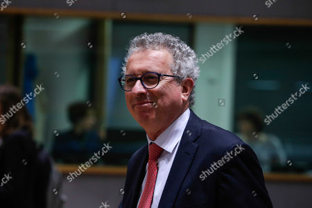 Luxembourg's Finance Minister Pierre Gramegna at the start of an Economic and Financial affairs meeting council (ECOFIN), at the European Council in Brussels, Belgium, 17 May 2019. The ministers will hold a debate on digital taxation and talk main outcomes of the G20, IMF and World Bank spring meetings as well as adopt conclusions based on the European Semester exercise for 2019.