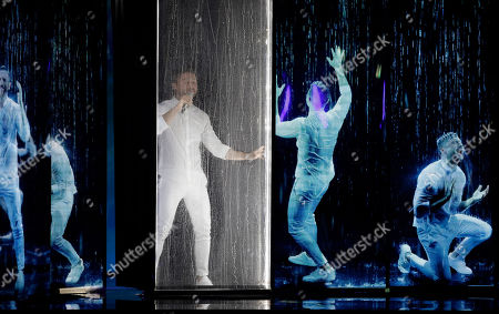 """Sergey Lazarev of Russia performs the song """"Scream"""" during the 2019 Eurovision Song Contest grand final rehearsal in Tel Aviv, Israel"""
