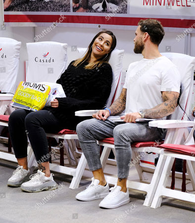 Jessica Rose and Dominic Lever at The Baby Show