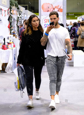 Stock Image of Jessica Rose and Dominic Lever at The Baby Show