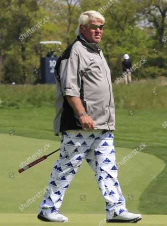 John Daly of the US on the eleventh hole during the second round of the 2019 PGA Championship at Bethpage Black in Farmingdale, New York, USA, 17 May 2019. The Championship runs from 16-19 May.