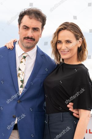 Stock Photo of Michael Angelo Covino and Judith Godreche