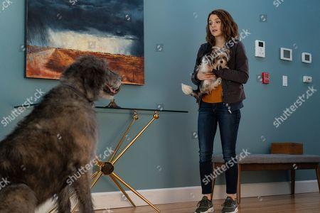 Bailey (Josh Gad) and Kathryn Prescott as CJ