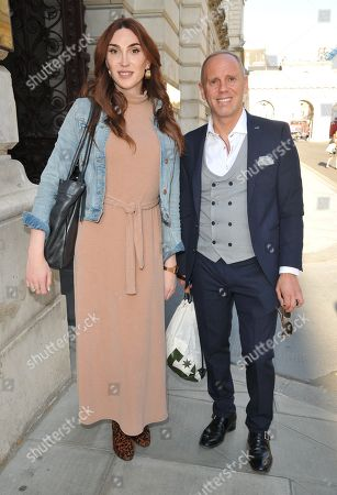 Stock Image of Juno Dawson and Rob Rinder (Judge Rinder)
