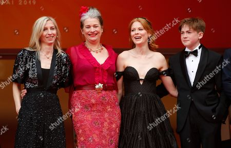 Jessica Hausner, Kerry Fox, Emily Beecham and Kit Connor arrive for the screening of 'Little Joe' during the 72nd annual Cannes Film Festival, in Cannes, France, 17 May 2019. The movie is presented in the Official Competition of the festival which runs from 14 to 25 May.