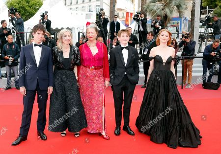 Phenix Brossard, Jessica Hausner, Kerry Fox, Kit Connor and Emily Beecham arrive for the screening of 'Little Joe' during the 72nd annual Cannes Film Festival, in Cannes, France, 17 May 2019. The movie is presented in the Official Competition of the festival which runs from 14 to 25 May.