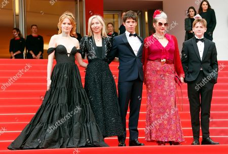 Emily Beecham, Jessica Hausner, Phenix Brossard, Kerry Fox and Kit Connor arrive for the screening of 'Little Joe' during the 72nd annual Cannes Film Festival, in Cannes, France, 17 May 2019. The movie is presented in the Official Competition of the festival which runs from 14 to 25 May.