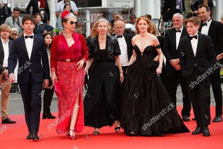Phenix Brossard, Kerry Fox, Jessica Hausner, Emily Beecham and Kit Connor arrive for the screening of 'Little Joe' during the 72nd annual Cannes Film Festival, in Cannes, France, 17 May 2019. The movie is presented in the Official Competition of the festival which runs from 14 to 25 May.