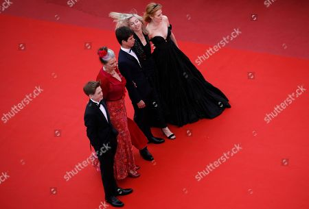 British actor Kit Connor, New Zealand actress Kerry Fox, French actor Phenix Brossard, Austrian film director Jessica Hausner and British actress Emily Beecham arrives for the screening of 'Little Joe' during the 72nd annual Cannes Film Festival, in Cannes, France, 17 May 2019. The movie is presented in the Official Competition of the festival which runs from 14 to 25 May.