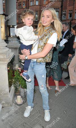 Noelle Reno and her son Xander Maximilian Perks